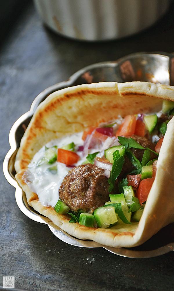 Mediterranean Meatball Gyros Sandwiches