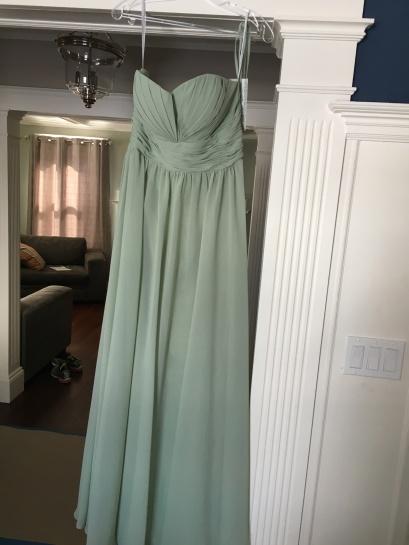 Dress is designed by Christina Wu